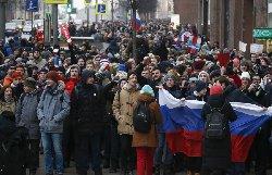 اعتراضاتی مشابه اعتراضات ایران علیه پوتین