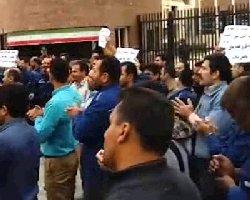 فیلم؛ شعار ضد حکومتی در راهپیمایی کارگران