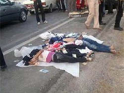 آماری غم انگیز از کشته های تصادف جاده ای