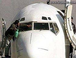 طواف هواپیمای ممنوع الخروج در مشهد + فیلم