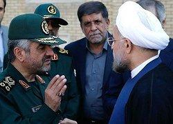 خبر منبع انگلیسی درباره دعوای روحانی و سپاه