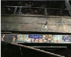 فیلم؛ حسینیه درکه تهران به آتش کشیده شد
