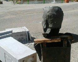تندیس پدر بوکس ایران را هم تخریب كردند+عکس