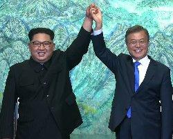 رهبران دو کره: به دشمنی پایان می دهیم+فیلم