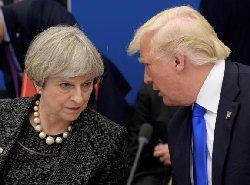 خودداری ترامپ از مذاکره با نخست وزیر انگلیس