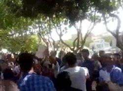 فیلم؛ خزر: تظاهرات علیه وطن فروشی ملایان