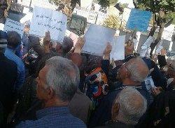 تجمع اعتراضی بازنشستگان با شعارسیاسی+فیلم