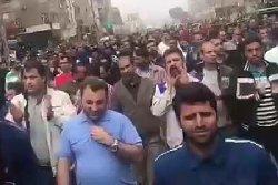 فیلم؛ شعار کارگران علیه آخوندهای حرام لقمه