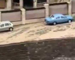 فیلم؛ هشدار: سیلاب وحشتناک در فشم تهران