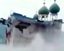 مساجد چین بسرعت تخریب می شوند+عکس
