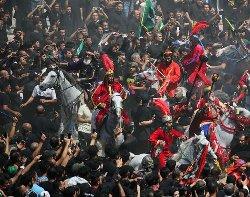 دهها نفر در مراسم عاشورا کشته شدند+فیلم