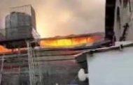 آتشسوزی گسترده در شهرک صنعتی جاجرود+فیلم