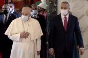 فیلم دیدارهای پاپ با مقامات و مسیحیان عراقی در بغداد
