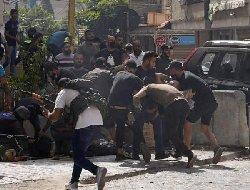 تیراندازی عناصر حزب الله به کاخ دادگستری بیروت+فیلم